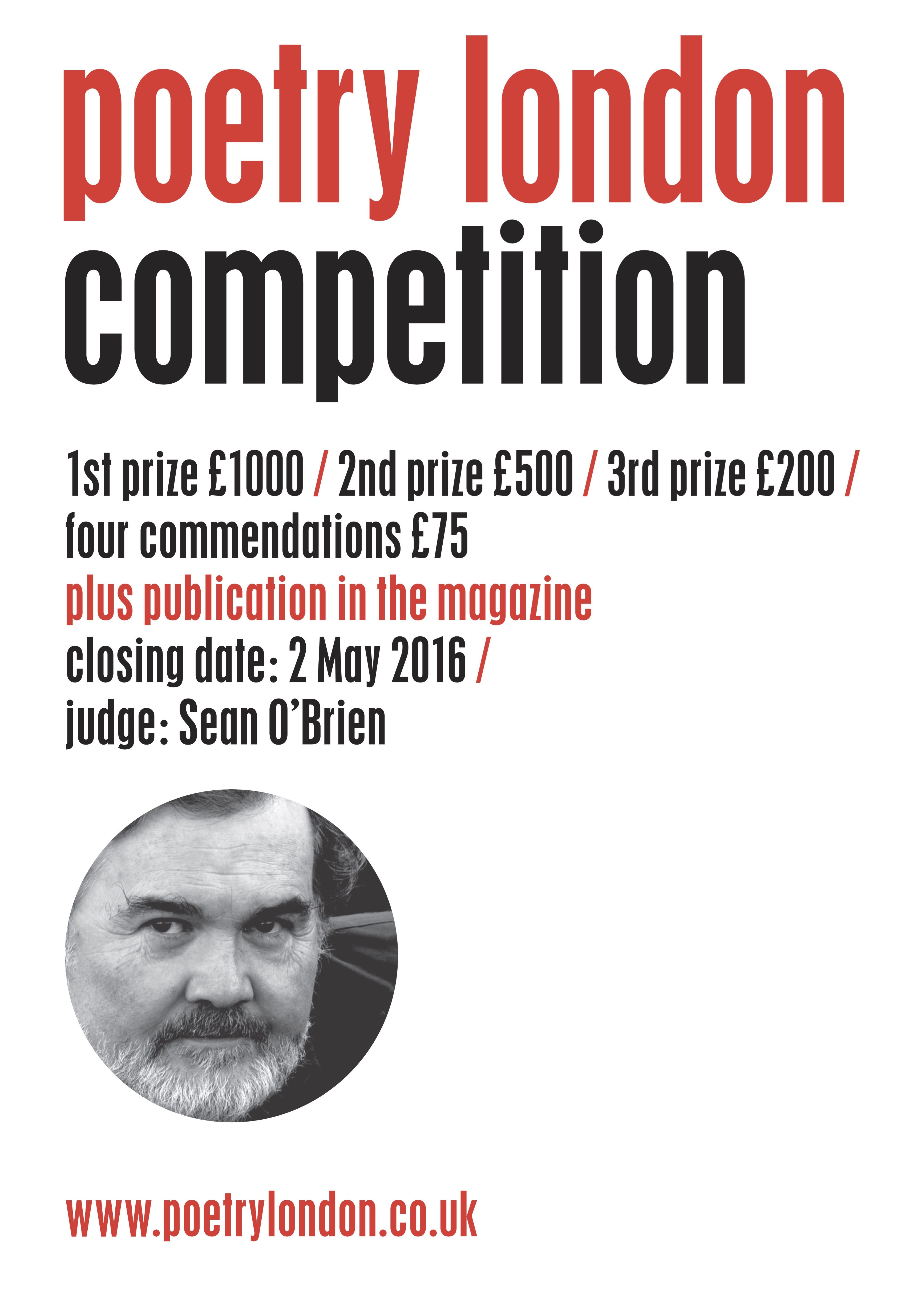 Poetry London 2916 Competition
