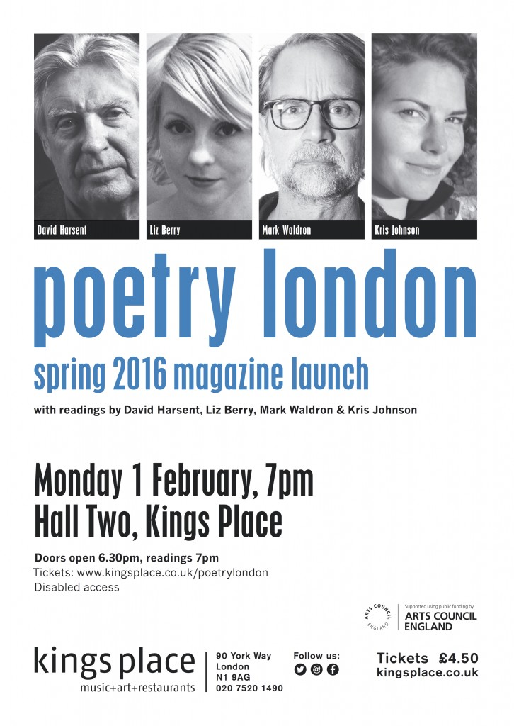 Poetry London Spring Launch