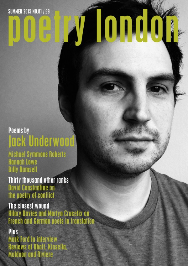 Poetry London Issue 81 cover page