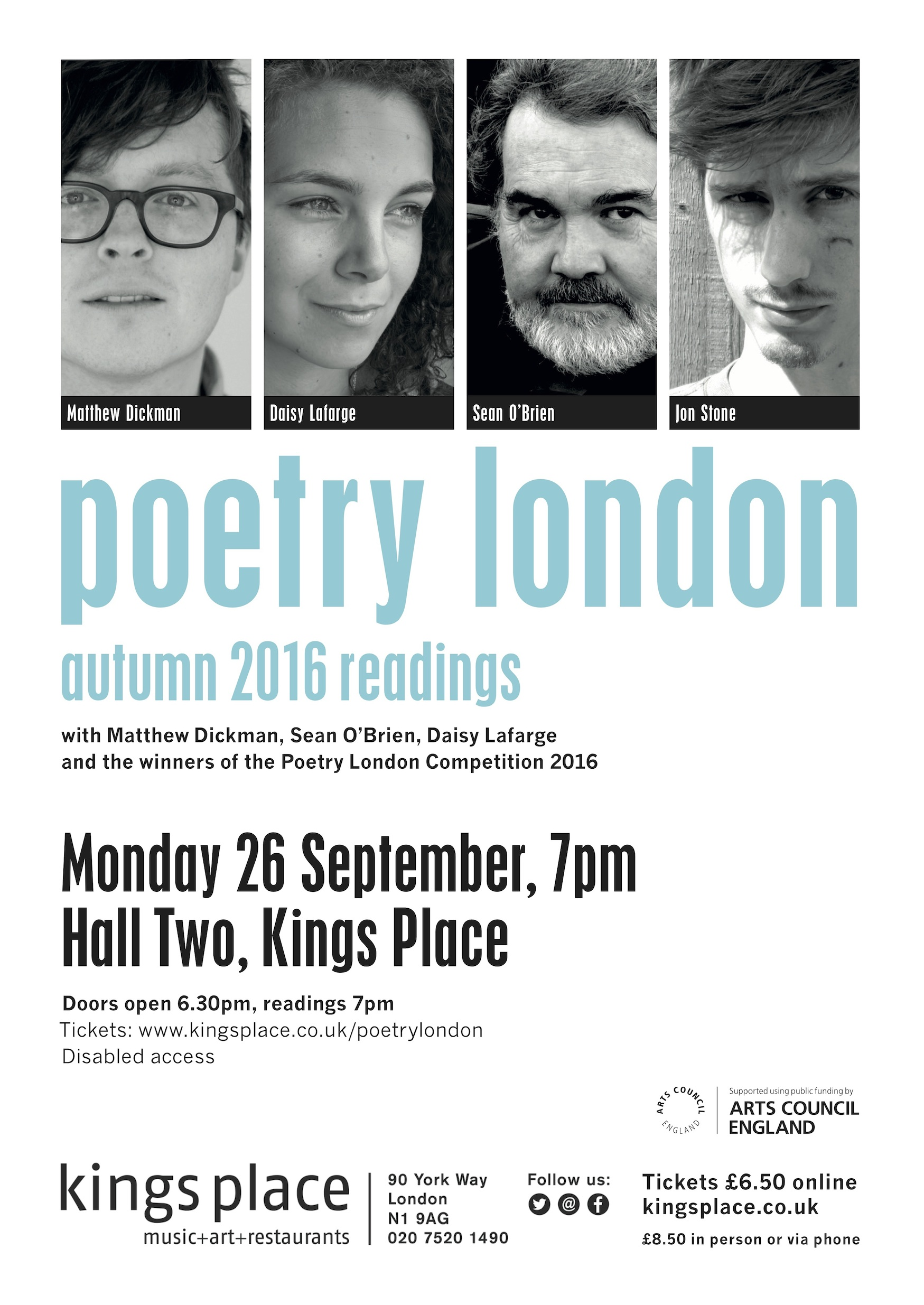 Poetry London Autumn Launch Readings