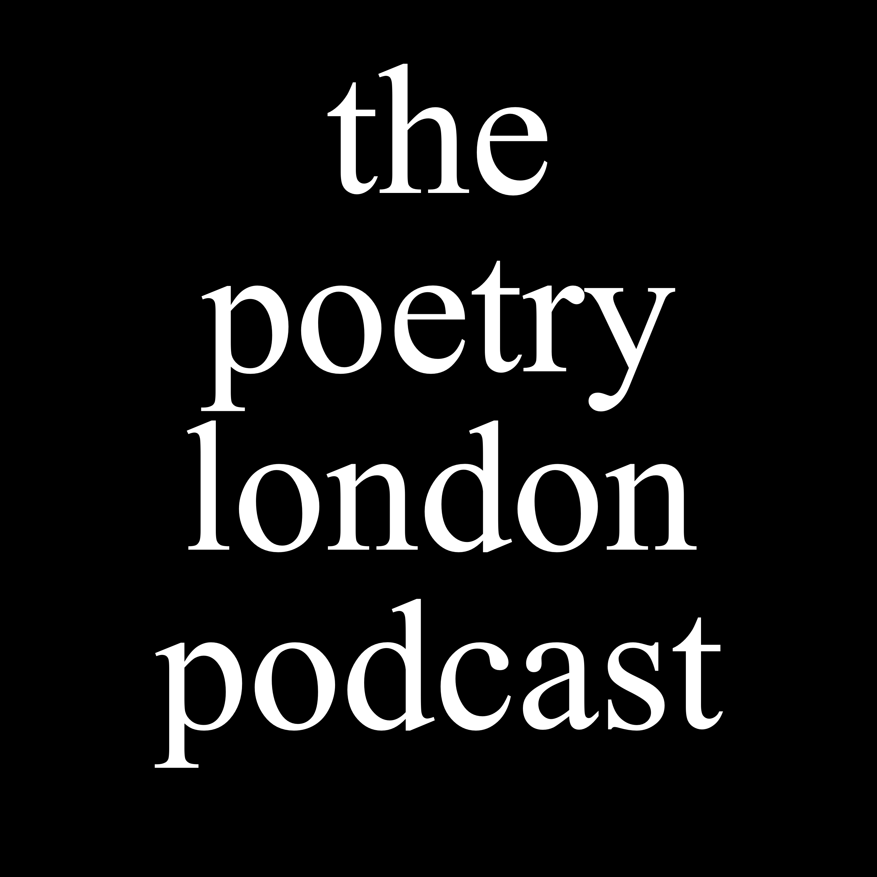 the poetry london podcast icon